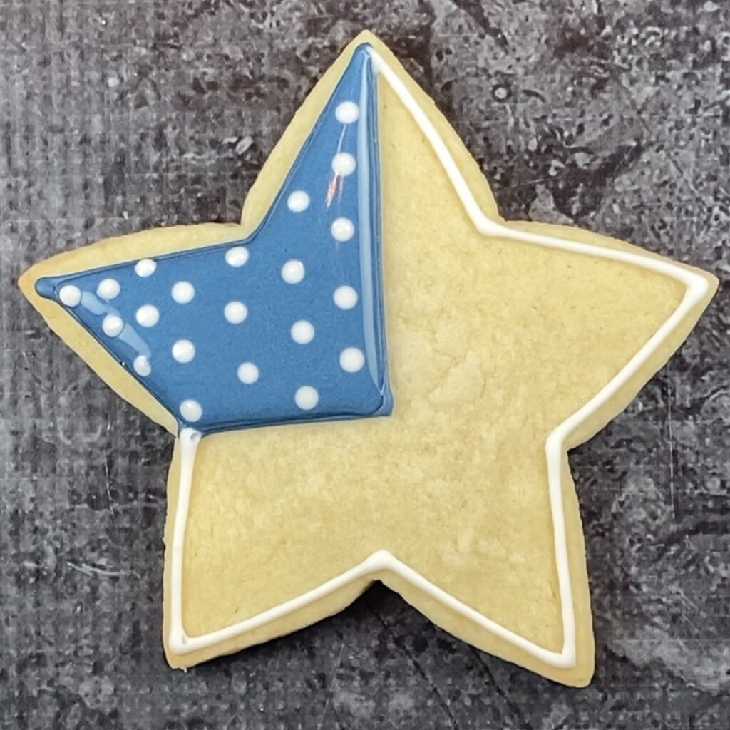 Add stars to star flag cookie