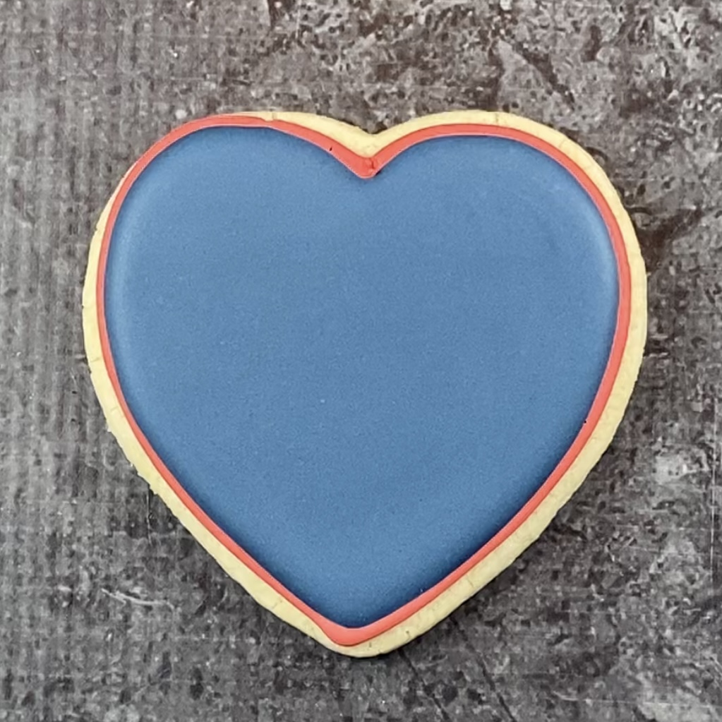 Fill heart with blue