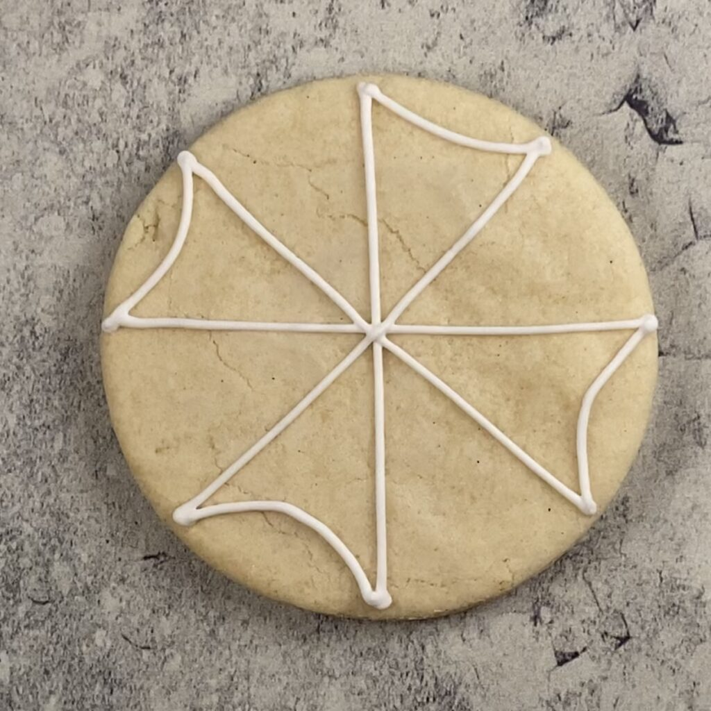 Outline umbrella sections for weekend vibes cookies