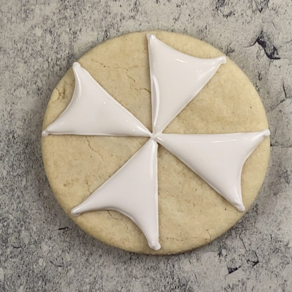 Fill white for umbrella cookies