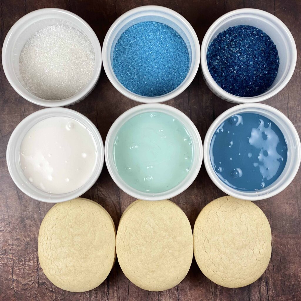 Supplies for Blue Apatite Crystal Cookies