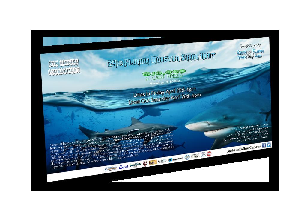 South Florida Shark Club Poster Banner