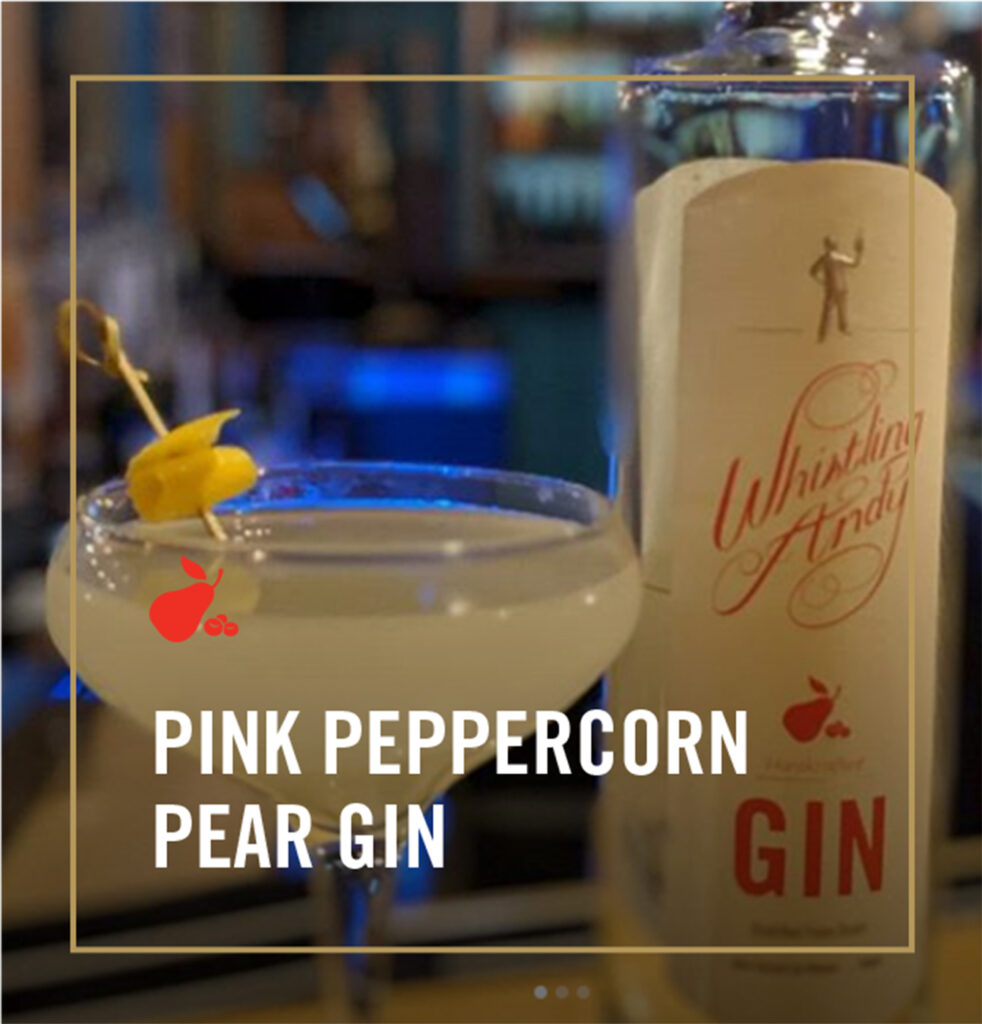 Pink Peppercorn Pear Gin Cocktails - Whistling Andy Distillery