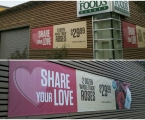 Valentines Day Banners for Whole Foods.