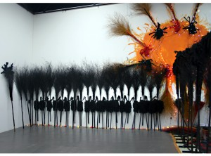 """One World, One Dream"" 100 x 50 feet, Mixed Media"