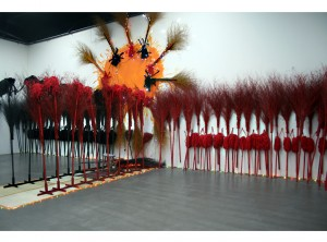 """One World, One Dream"" 100 x 50 feet, Mixed Media, 2008"