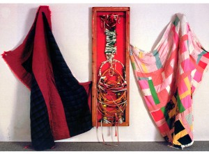 """""""In the Spirit of West African Senegalese Dance with Mary Alice Pace"""" 20 x 20 feet x 5 inches, Mixed Media, 1999"""
