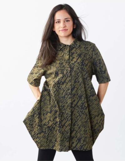 Bryn Walker - Spring, Summer 2022 printed collared shirt or tunic