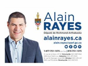 Alain Rayes, Député Richmond-Arthabaska