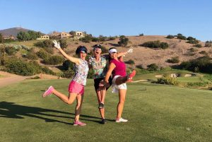 Three-Women-Dancing-Golf-Course