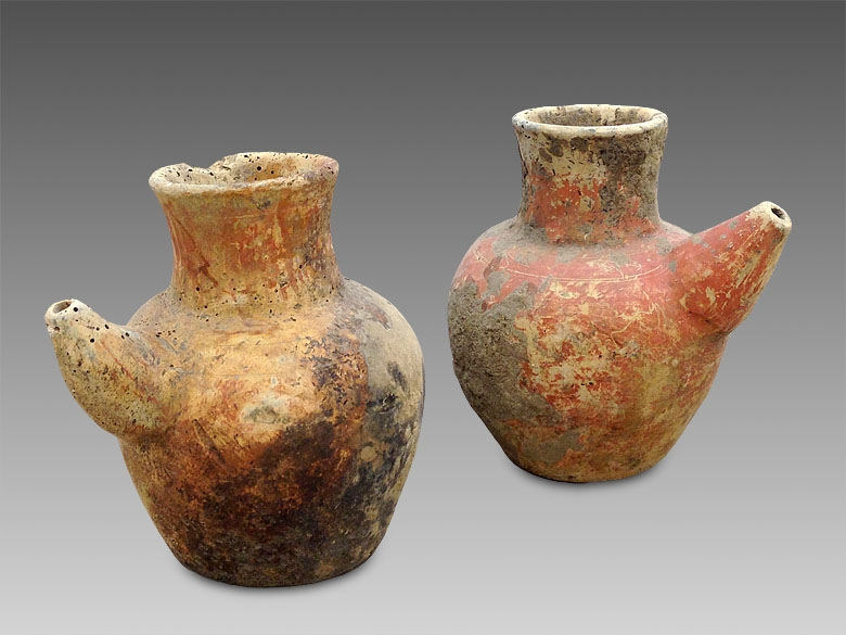 400 year old holy water vessels, found up river in Borneo