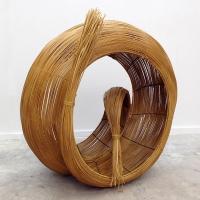 Large hand woven rattan sculpture