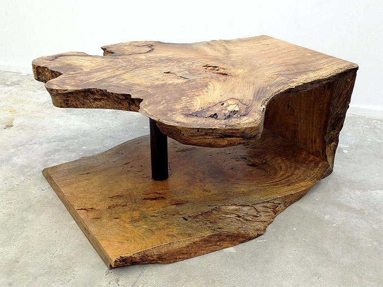 Live Edge waterfall Mango Wood Slab Coffee Table
