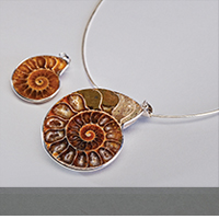 Fine Custom Jewelry Made from Fossils, Geodes, and Black Volcanic Rock