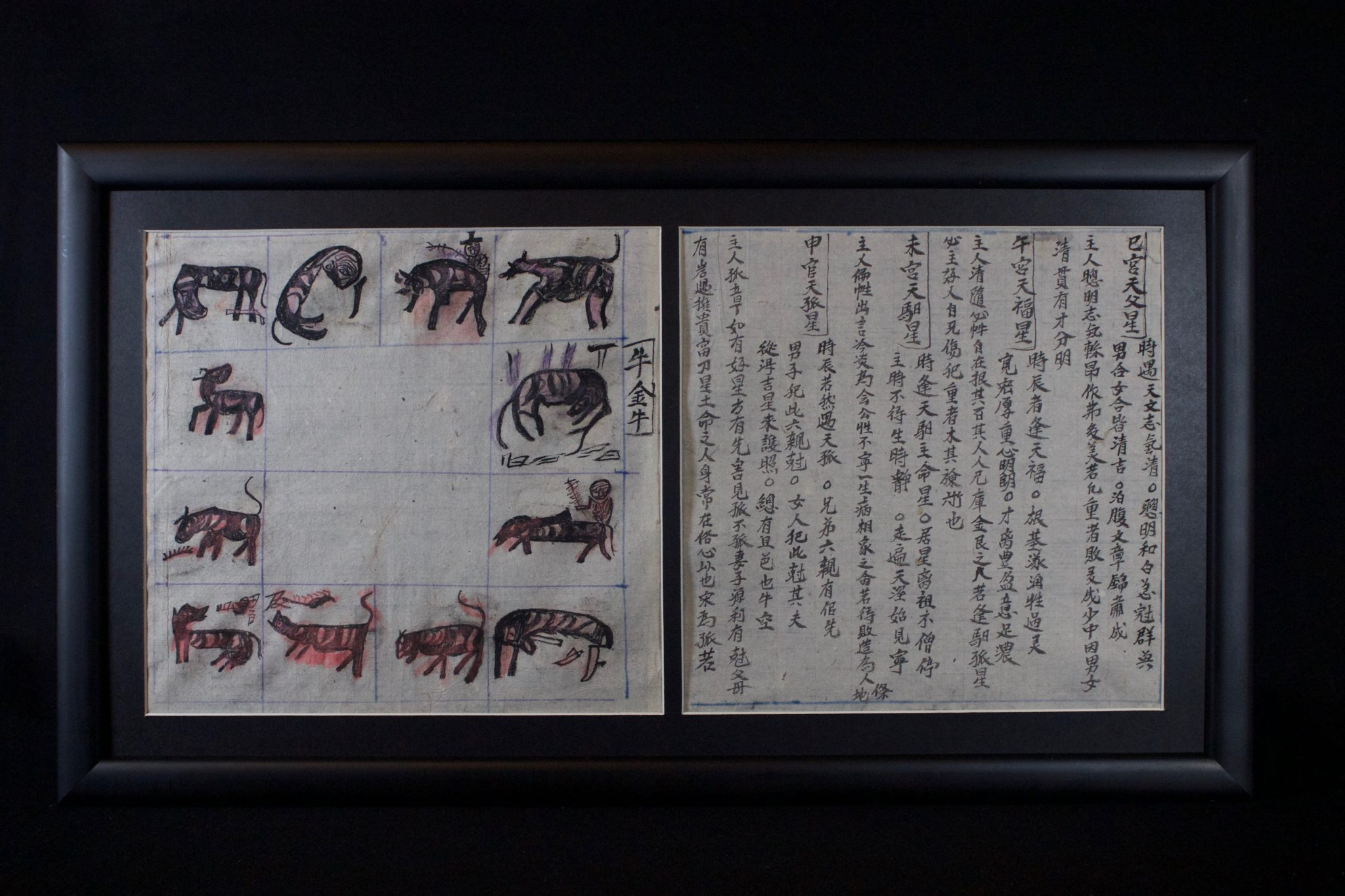 """Shaman's Personal Instruction Book, Cao Bang province, Vietnam Red Yao people, Early 20th c, Ink on handmade mulberry paper (tapa), Written in Nom (Chinese characters adapted to Vietnamese), books are an integral part of a shaman's repertoire. They range from explanations of various rituals and use of objects, to astrology, history, songs, laws, etiquette, children's tales, hunting practices, formulas, spells and Feng Shui. Shaman make their own books to help store their knowledge therefore no two are alike and a high level shaman will have a large library. 9 ½"""" x 8 ½"""" x ¾"""", $850."""