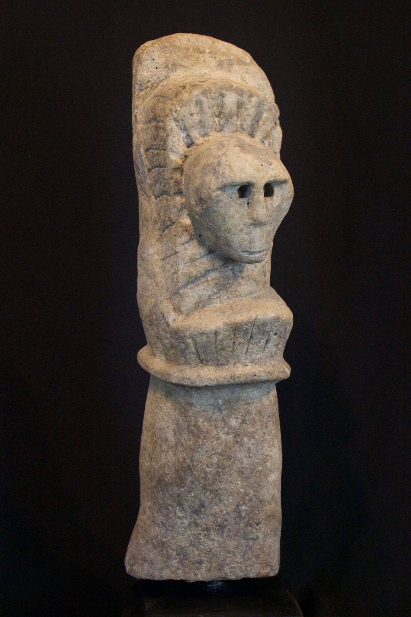 "'Katoda' - God Effigy, Timor Island, Lesser Sunda Islands, Indonesia, Early 20th c, Stone. Shaman would pray to a Katoda to predict natural disasters. 19"" x 5 ½"" x 6 ½"", $1600."