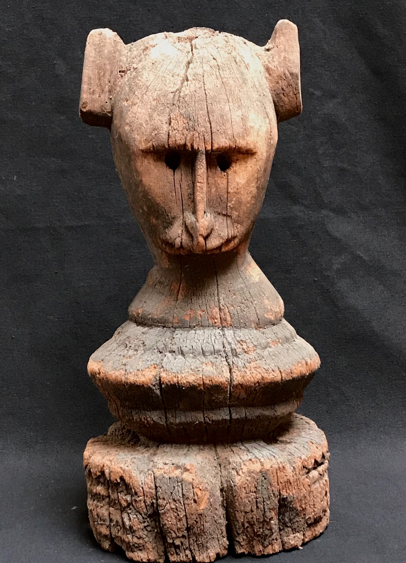 "Shaman healing object, from near Kodi village, West Sumba Island, Indonesia, mid 20th c., jack fruit wood, 11 1/2"" x 6"" x 5"","