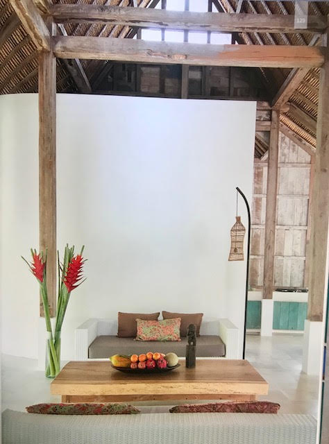 Javanese Joglo style open beam framework blended with western style architecture. image from 'Seen Unseen' book by Alejandra Cisneros