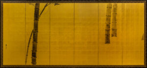 Six-Panel Gold Bamboo Byobu