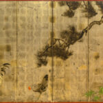 Six-Panel Rooster Byobu