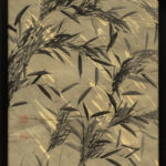 Japanese Bamboo Leaves Painting