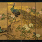 Six-Panel Peacock Byobu