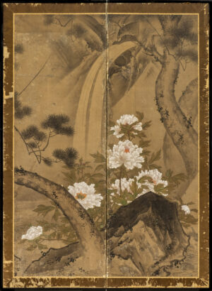 Two-Panel Waterfall Byobu