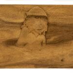"""Monkey In Hot Springs"" Studio Carving, David Alan Original Design"