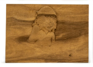 """Monkey In Hot Springs"" Studio Carving, David Alan Original Design"