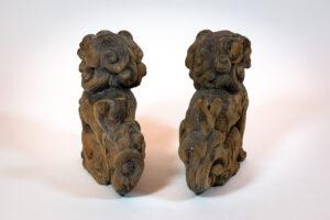 Japan Pair of Foo Dogs (Shishi or Komainu in Japanese) Shelf-Top