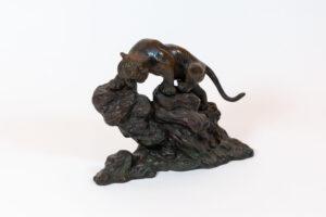 Iron Tiger-On-Mountain Sculpture