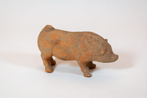 Ceramics Pig Spirit Vessel or Funerary Object Shelf-Top