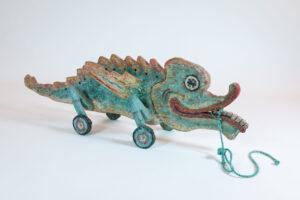 Contemporary Animal Sculpture, Lindu Creature Pull Toy
