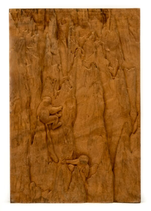 """Monkeys of Cliff"" Studio Carving, David Alan Original Design"