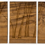 """Forest"" Studio Carving (triptych), David Alan Original Design"
