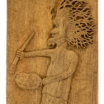 """The Painter"" Studio Carving, David Alan Original Design"