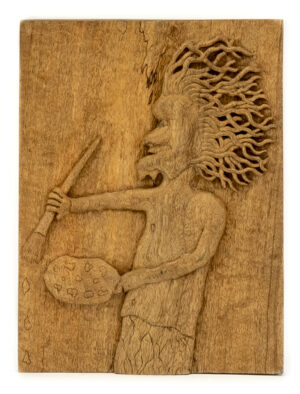 """The Painter"" Studio Carving, David Alan Original Design"