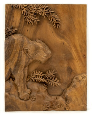 """Leopard"" Studio Carving, David Alan Original Design"