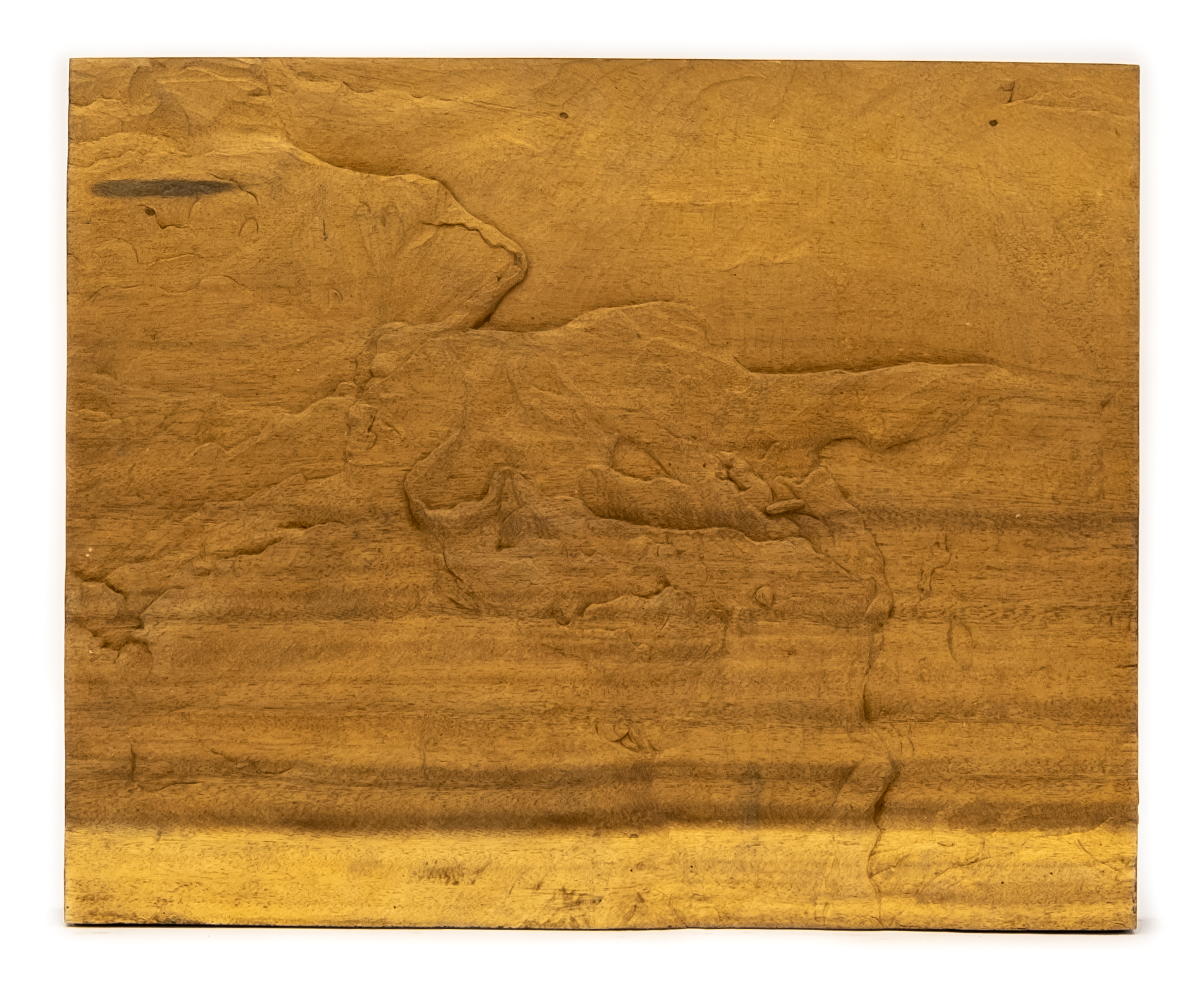 """Mountain Skyline"" Studio Carving, David Alan Original Design"