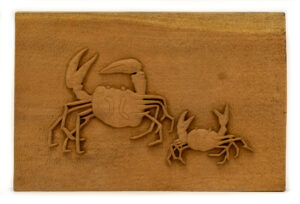 """Sandy Crabs"" Studio Carving, David Alan Original Desing"