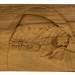 """Foothills Encampment"" Studio Carving, David Alan Original Design"