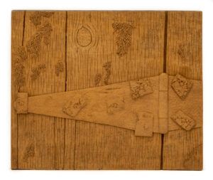 """Mossy Door"" Studio Carving, David Alan Original Design"