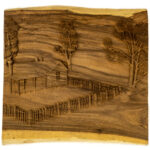 """Farmhouse"" Studio Carving, David Alan Original Design"