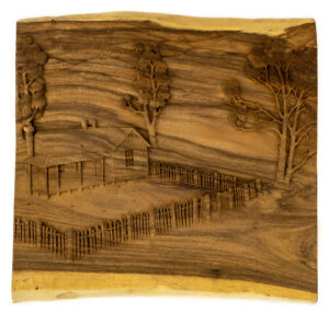 """Farmhouse"" Studio Carving, David Alan Original Design"