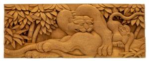 """Tiger"" Studio Carving, David Alan Original Design"