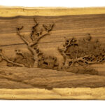 """Pine Tree"" Studio Carving, David Alan Original Design"