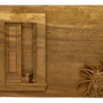 """Cats In Entryway"" Studio Carving, David Alan Original Design"