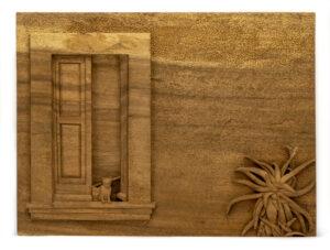 """""""Cats In Entryway"""" Studio Carving, David Alan Original Design"""