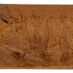 """""""Mountain Cliffs"""" Studio Carving, David Alan Original Design"""