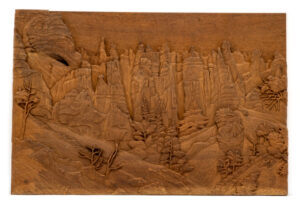 """Mountain Cliffs"" Studio Carving, David Alan Original Design"